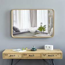cajun queen beveled wall mirror gold