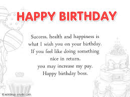 birthday wishes for boss and birthday card wordings for boss