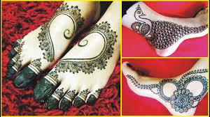 foot mehndi design bridal image