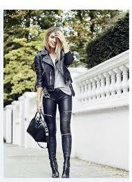 women zipped skinny pants trousers