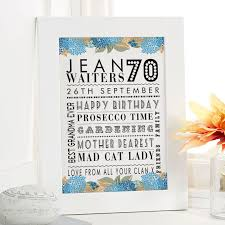 personalized 70th birthday present