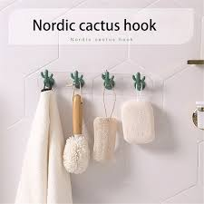 Nordic Cactus Hook Kids Room Decorative Wall Hanging Clothing Hooks Children Wall Sticker Clothes Hook Hanger Wall Hooks Bathroom Hooks Aliexpress