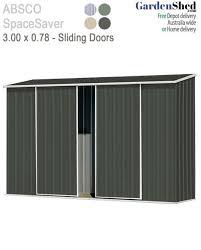 3m x 0 78m sliding door garden shed