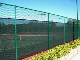 Green Vinyl Coated Chain Link Fence Protecting Decorating