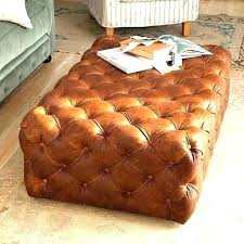 brown leather tufted ottoman bajenaru