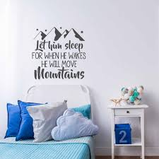 Nursery Wall Decal Sayings Baby Boy Room Decor Pvc Wall Art Sticker For Kids Rooms Home Decoration Interior Bedroom Mural D290 Wall Stickers Aliexpress