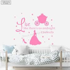 Stizzy Wall Decal Cartoon Cinderella Quote Wall Sticker For Kids Room Princess Shoes Girls Bedroom Removable Nursery Decor C330 Wall Stickers Aliexpress