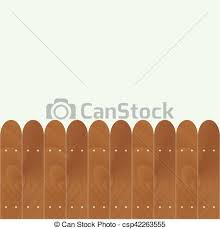Banner With Rounded Wooden Fence Wood Garden Fence Vector Old Wooden Fence Illustration