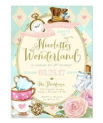 Alice In Wonderland Girl S Birthday Party Invitation Temas De