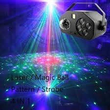 Laser Nhấp Nháy Ma Thuật bóng Hoa Văn 4 TRONG 1 Đèn Led Laser chiếu ánh  sáng Sân Khấu đa tác dụng kết hợp Đảng ánh sáng giải trí gia đình|