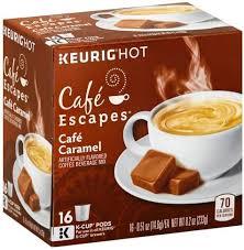 caramel k cup pods coffee beverage