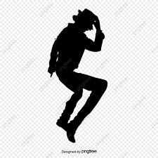 Michael Jackson Dancing Silueta Material Baile Popular Rey