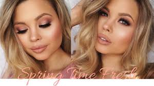 spring makeup tutorial springtime