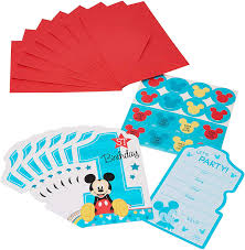 Amazon Com Disney Mickey S Fun To Be One Postcard Invitations