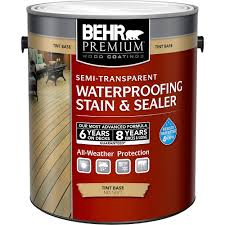 Behr Premium 3 79l Semi Transparent Waterproofing Stain Sealer Tint Base No 5077 The Home Depot Canada