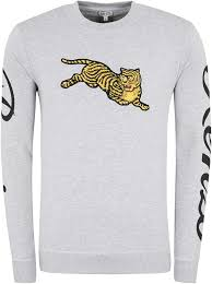 Amazon.com: Kenzo Jumping Tiger Crew Neck Sweatshirt: Clothing