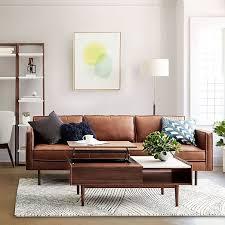 axel leather sofa living room sofa