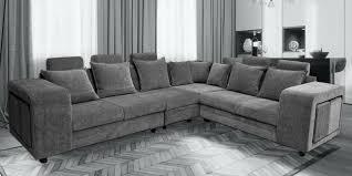 amanda corner sofa in dark grey colour