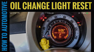 how to reset the oil change maintenance