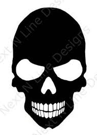 Skull Window Sticker Car Decal Vehicle Decal Car Window Etsy