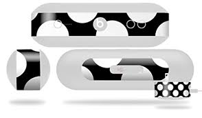 Kearas Polka Dots White On Black Decal Style Skin Fits Beats Pill Plus Beats Pill Not Included Wantitall