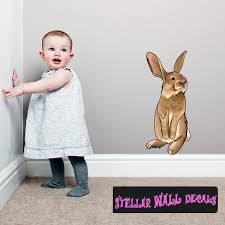 Easter Bunny Wall Decal Wall Fabric Repositionable Decal Vinyl Car Sticker Usc002