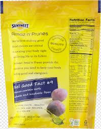 prune nutrition facts label sunsweet