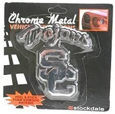 Amazon Com Stockdale Usc Trojans Metal Chromed Auto Emblem Automotive