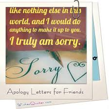 forgive me sample apology letters to a good friend