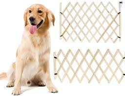 Safety Pet Gate Simple Stretchable Wooden Fence Larger Size For Big Dog Small For Puppy Amazon Co Uk Pet Supplies