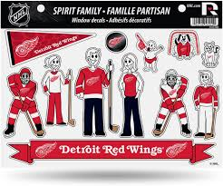 Amazon Com Detroit Red Wings Nhl 11 X 11 Large Family Car Decal Sheet Red Wings By Rico Sports Related Tailgater Mats Sports Outdoors