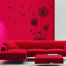 large black dandelion wall stickers art
