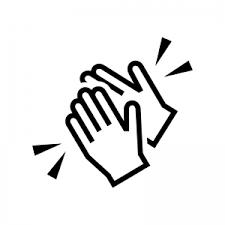 拍手のシルエット02 | 無料のAi・PNG白黒シルエットイラスト
