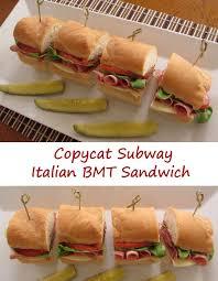 copycat subway italian bmt sandwich