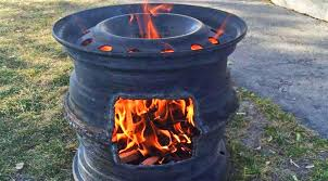 old tire rims make diy fire pits