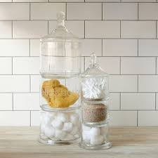 apothecary jars build up your bathroom