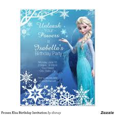 Frozen Elsa Birthday Party Invitation Zazzle Com Invitaciones