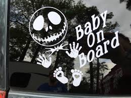 Nightmare Before Christmas Car Decal Baby On Board Decal Etsy