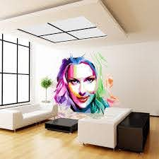 Shop Full Color Colorful Girl Painting Beauty Full Color Wall Decal Sticker Sticker Decal Size 22x22 Frst Overstock 15259149
