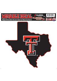Texas Tech Red Raiders 8x8 Black Texas Shaped Auto Decal Black 16370159