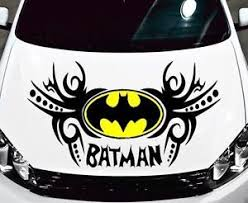 Batman Logo And Tribal Design Decal Vinyl Graphic For Hood Side Of Car