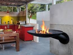 outdoor fireplace and bbq grill