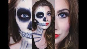 skeleton makeup tutorial half face easy