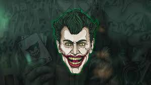 1360x768 joker face art laptop hd hd 4k