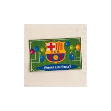 Set 5 Invitaciones De Cumpleanos F C Barcelona