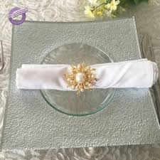 clear glass soup square charger plates
