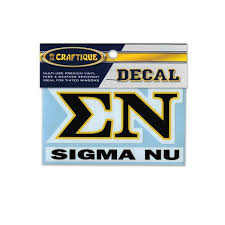 Sigma Nu Greek Letter Decal Campus Classics