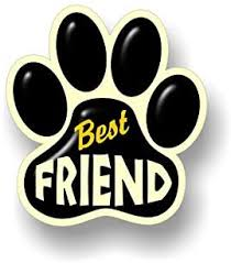 Amazon Com Best Friend Paw Print 5 5 Dog Cat Decal Cat Puppy Foot Print Vinyl Stickers For Car Vehicle Window Or Bumper Black Paw On Cream Automotive