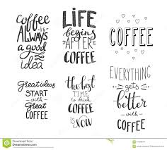 quote coffee typography set stock illustration illustration of