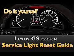 lexus gs service light interval oil